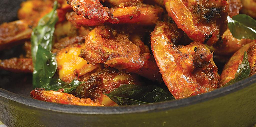 Ghee Roasted Prawns with Toasted Curry Leaves