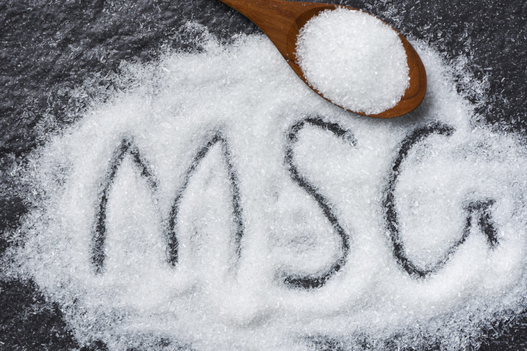 MSG powder on table