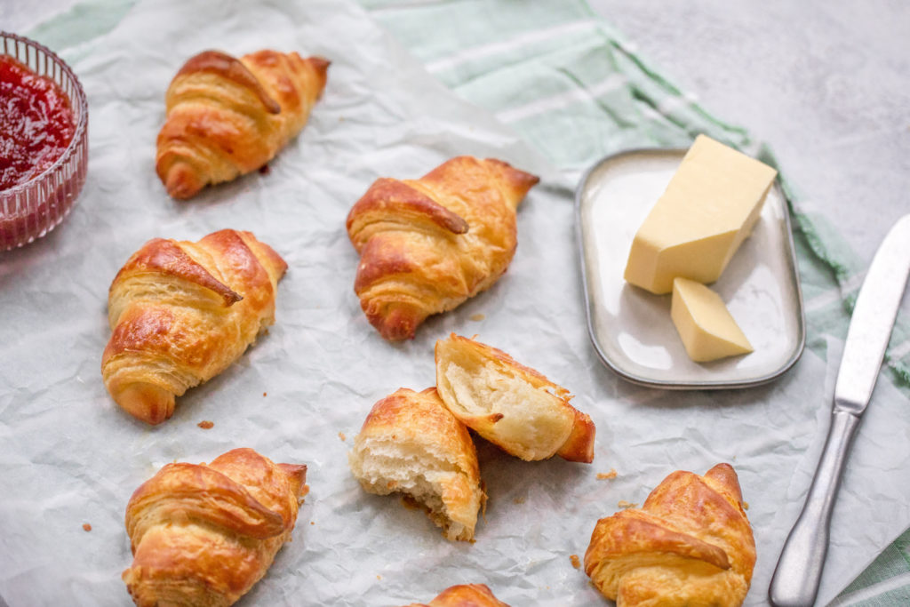 fluffy flaky butter croissants recipe