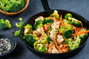 Fragrant Sesame Chicken 麻油鸡 with Broccoli