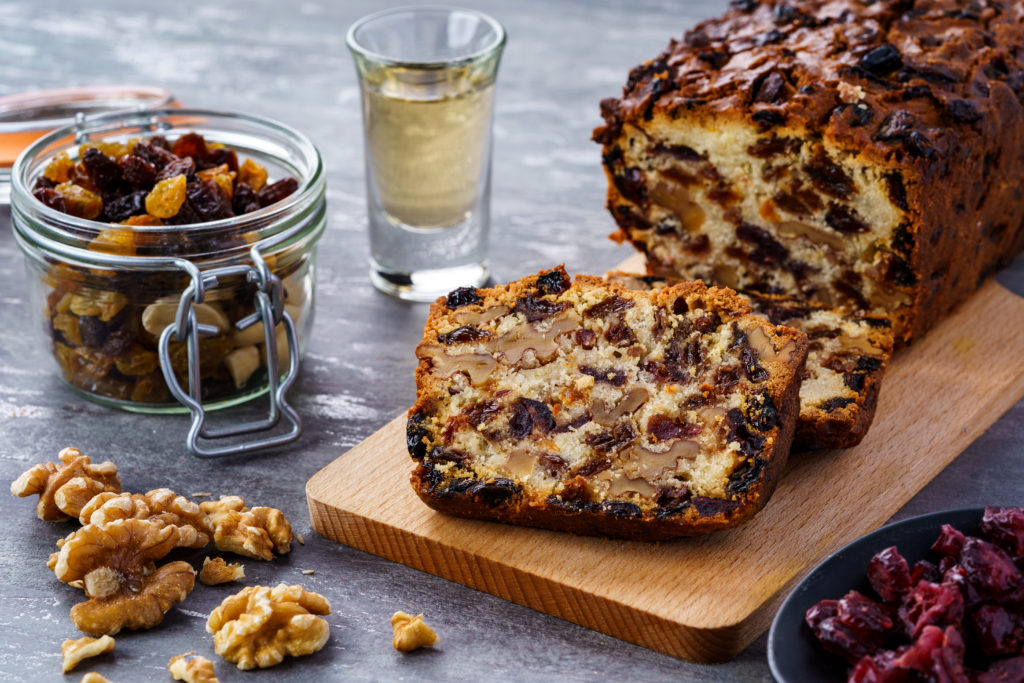 A loaf with fruits and nuts