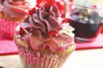 Vanilla Cupcakes with Red Beet Infused Butter Cream