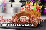 Chocolate and Coffee Christmas Log Cake