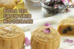 Boba Brown Sugar Tea Snow Skin Mooncakes!