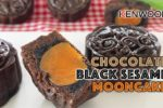 Chocolate and Black Sesame Mooncake