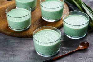 Beat the Heat with This Coconut Pandan Chia Seed Pudding