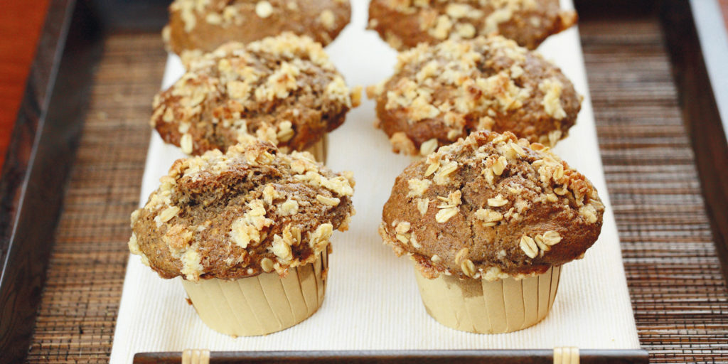 Banana, Oat and Espresso Muffins