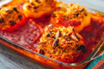 A Very-Vegan Christmas: Black Bean Stuffed Peppers