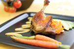 Duck Confit with Sweet Potato and Honey Mash