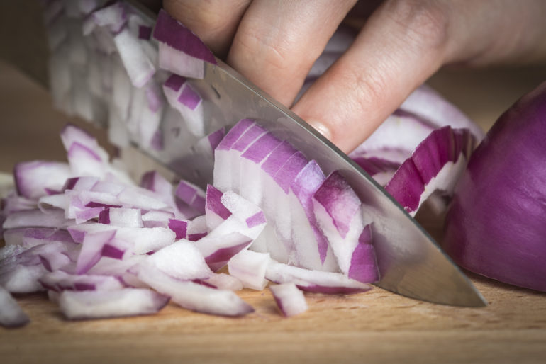 Slicing Onions Doesn't Always Have to be a Tearful Affair.