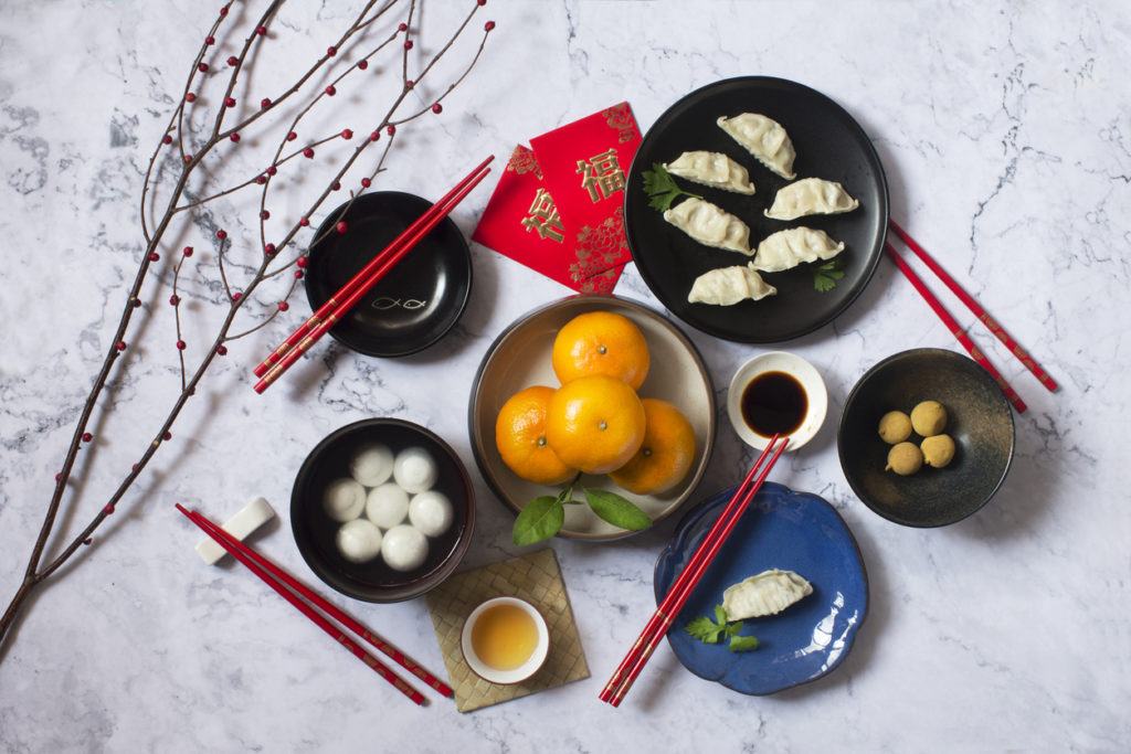chinese new year auspicious food and snacks