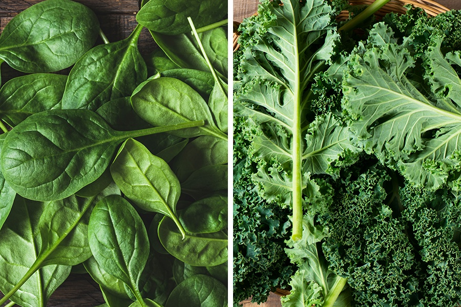 spinach-kale