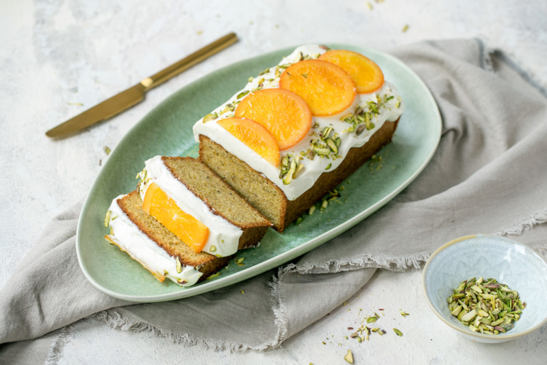 pistachio orange loaf